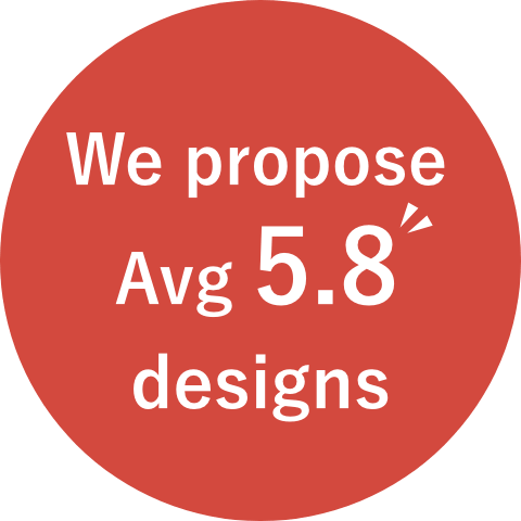 We propose Avg 5.8 designs