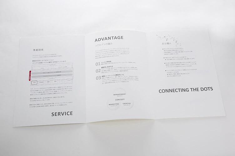 仕上がりA4二つ折りパンフレット(A3見開き)
