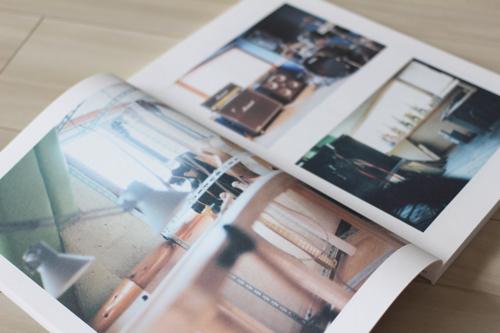 学校案内パンフレットデザイン中面(学校の様子を写真で語るページ)
