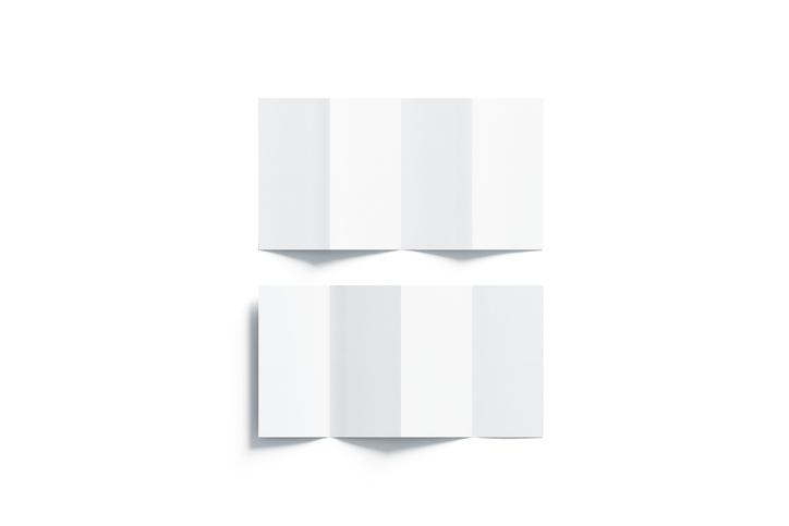 Z折り(外四つ折り)パンフレット